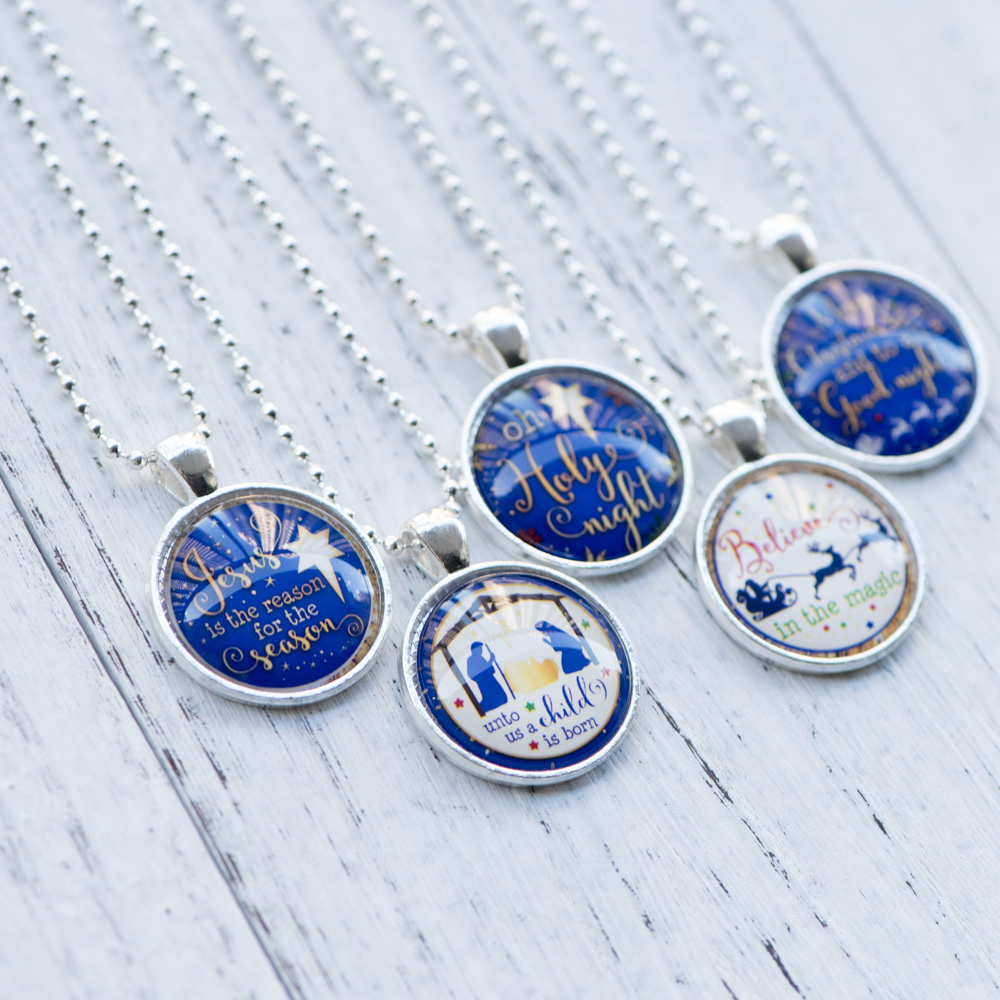Glass Cabochon Necklace Reason for the Season Believe in the Magic Christmas Inspired Necklace Handmade Women Jewelry 10pcs/lot