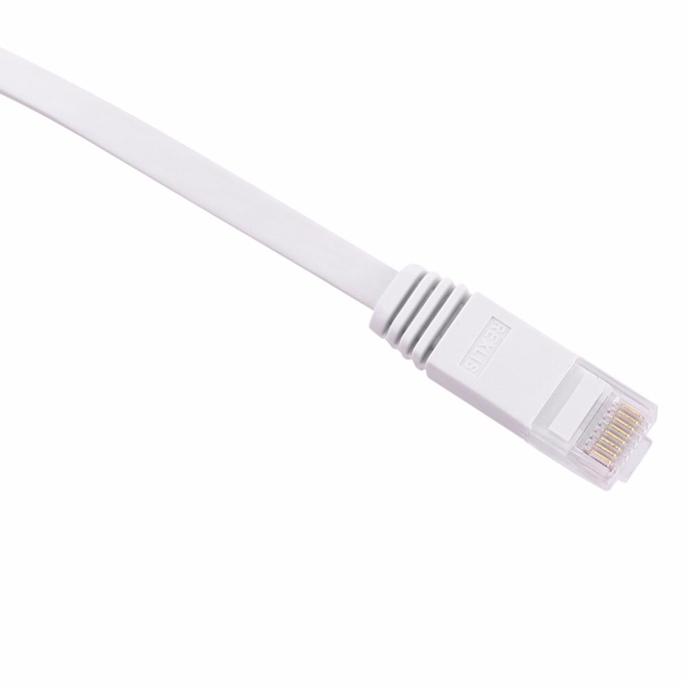 Length Computer Accessories HA CAT6 Ultra-Thin Flat Ethernet Network LAN Cable Baby Blue 20m