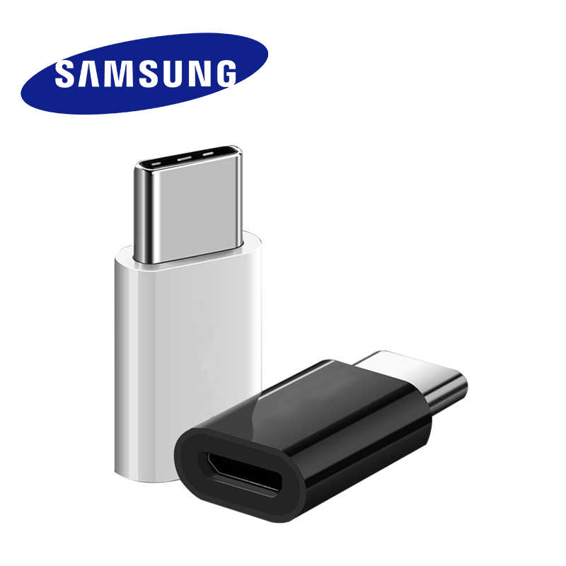 Samsung Micro USB ประเภท C Converter ต้นฉบับสาย c - Type Adapter Fast Charger Samsung Galaxy S8/S9 S 8 Plus/Note8 note9