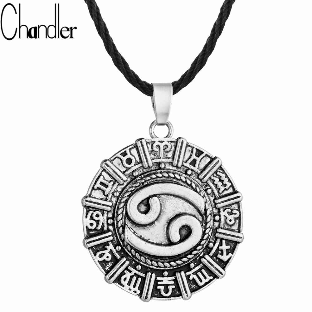 Chandler Cancer Karkat Zodiac Pendant Necklace Constellation Astrology Zodiac Jewelry Horoscope Star Sign Torque Birthday Gifts