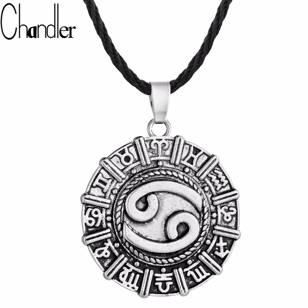 Cancer Astrology Zodiac Sign Birthday Necklace Gift