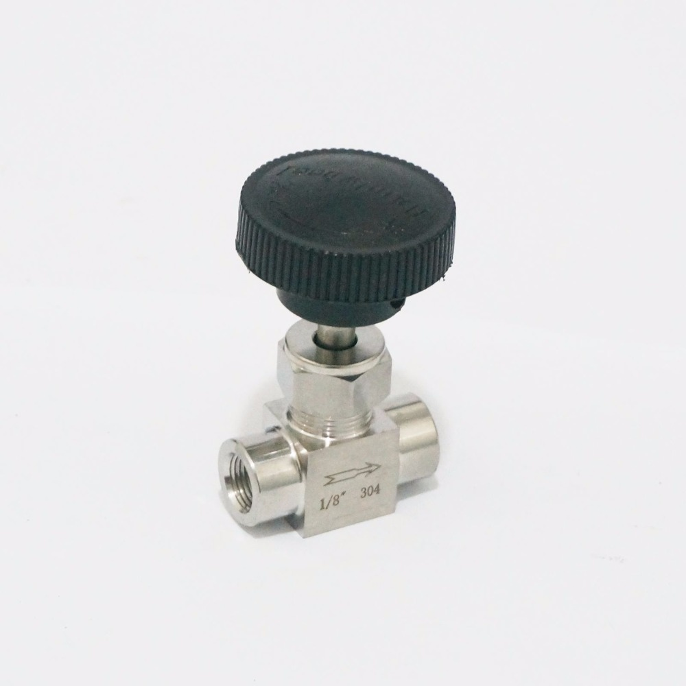 1/8 BSP female Thread 304 Stainless Steel Flow Control shut off Needle Valve 915 PSI water gas oil 1 8 npt female check one way valve 304 stainless steel water gas oil non return