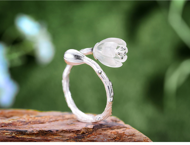 Natural Crystal Handmade Fine Flower Ring10