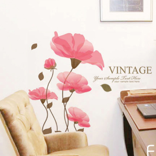 Lotus vinilos decorativos pegatinas de pared floral wall for Stickers decorativos