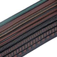 1 метр 12*6 мм волокно PU плетеный кожаный шнур для DIY браслет ювелирных изделий веревка ювелирные изделия-Аксессуары материал