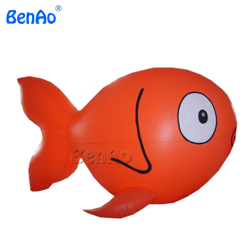 AO026 3m 0 18mm PVC Advertising Promotion Cheap Price Inflatable helium fish giant flying advertising balloon