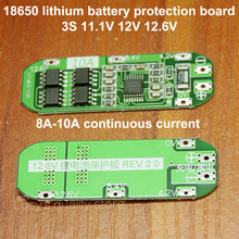 3 series 11.1V 12V 12.6V 18650 lithium battery protection board Seiko protection IC 8A 10A current
