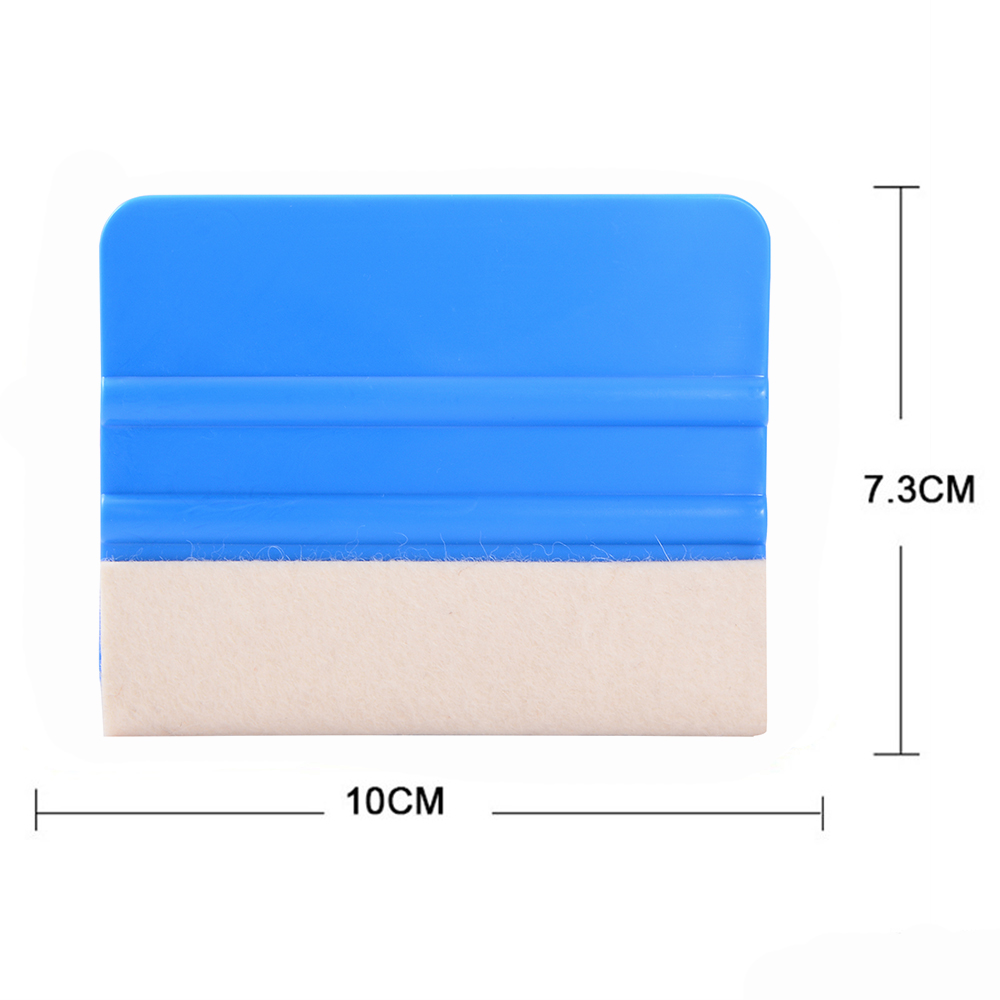 EHDIS Carbon Fiber Vinyl Squeegee Wool Felt Car Wrapping Plastic Scraper Window Water Blade Vehicle Tint Tools Glass Cleaning