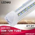 LEDVAS V-Shaped 4ft 8ft Cooler Door Led Tubes 36W 72W T8 Integrated Led Tubes SMD2835 AC85-265V Led Fluorescent  Lights#V50