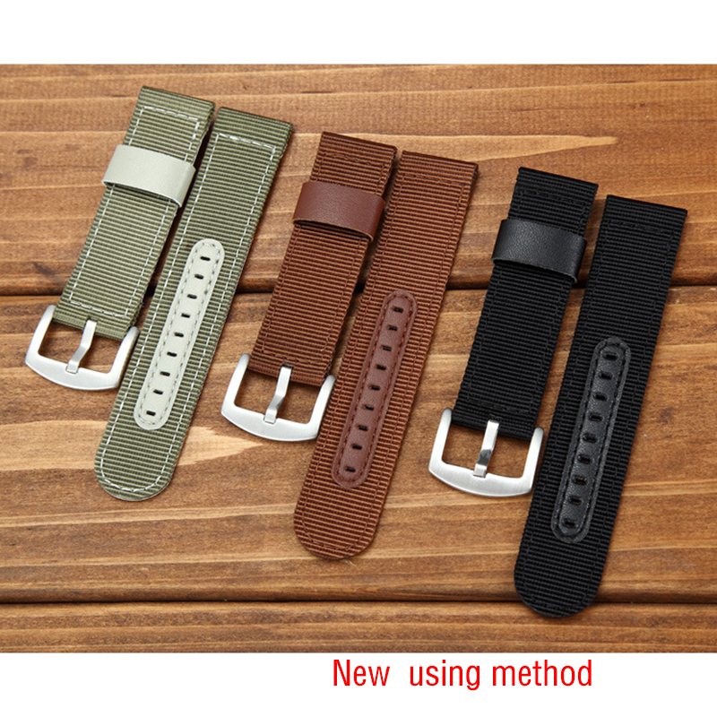 Universal Nylon Armband Leder Futter Armband 18mm 20mm 22mm 24mm - Uhrenzubehör - Foto 6