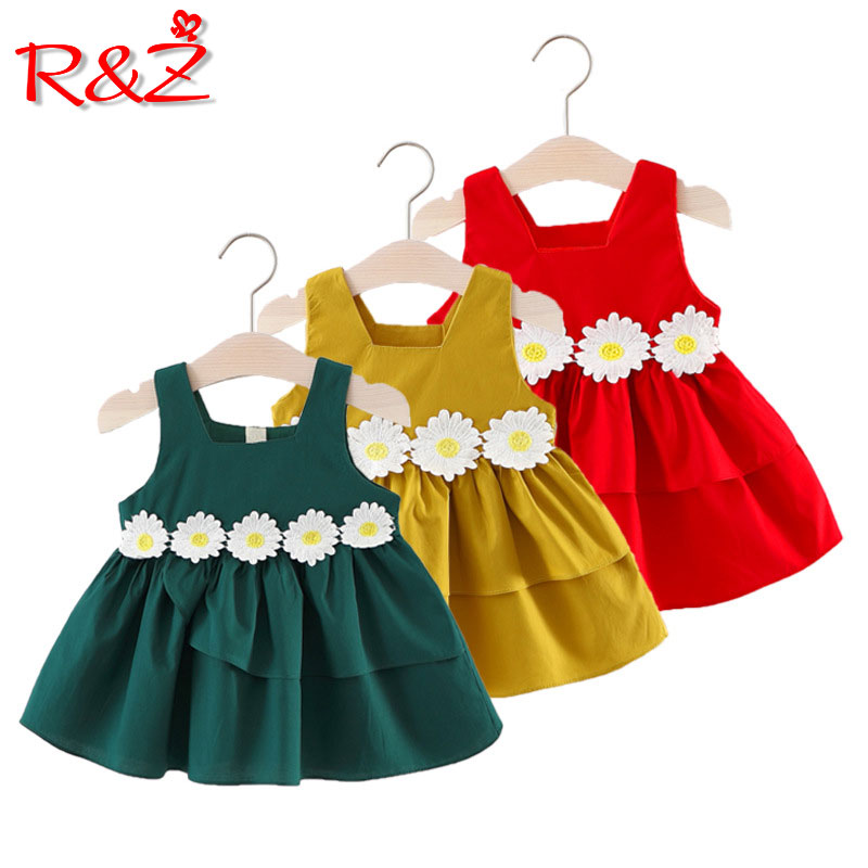 Toddler Baby Girls Summer Sleeveless Jeans Tank Dress Lace Ruffle Dresses Princess Spring Clothes
