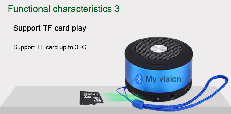 (חינם לאירופה) את חזון העיצוב החדש מיני נייד רמקולים אלחוטית Bluetooth רמקול N8S עם רדיו FM מיקרופון דיבורית 4 צבע