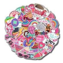 60 шт. ПВХ водонепроницаемый для девочек Kawaii розовый забавный стикер игрушки багаж наклейка s для мото автомобиля и чемодана крутая модная наклейка для ноутбука s
