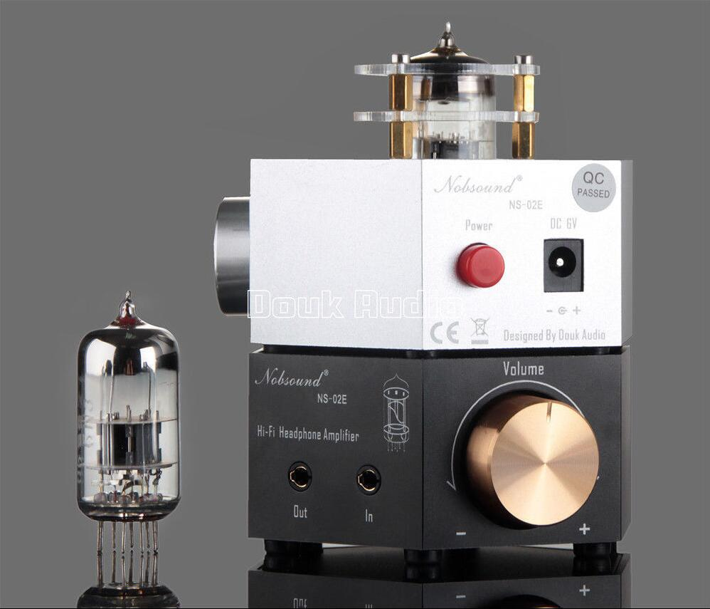 2017 Lastest Douk Audio Nobsound NS-02E Class A 6N3 Vacuum Tube Headphone Amplifier Stereo HiFi Earphone Pre-Amp Free Shipping u2012 class a 6n11 tube headphone amplifier usb dac hifi preamp stereo mini audio amplifier 2017 new