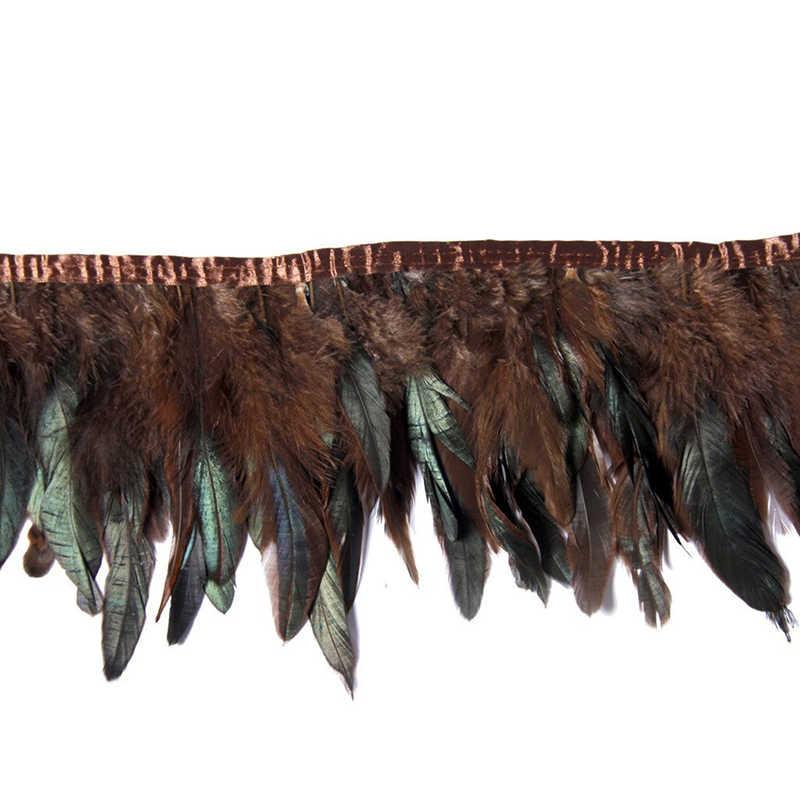 10 ярдов/лот перо бахрома отделочная лента коричневый цвет Плюм Рождество Хэллоуин одежда/леди свадьба Diy декоративные аксессуары