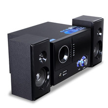 Wooden Multifunction Desktop pc lively speaker multimedia audio 2.1 subwoofer Bluetooth card Powered Stereo Audio system