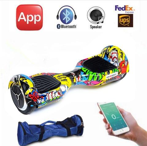 Bluetooch Bag Remote App Smart 6 5 Inch Self Balance Electric Scooter 2 Wheels Balance Skateboard