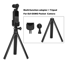 DJI OSMO Pocket Mount Multi-function expansion adapter+Aluminum alloy Mini Tripod For Action Camera Accessories