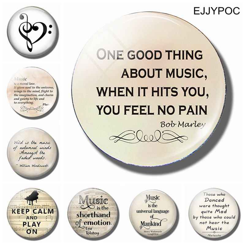 Alleen Ding over Muziek Is 30 MM Magneet Bob Marley Quote Glas Dome Magnetische Koelkast Stickers Note Holder Home decor