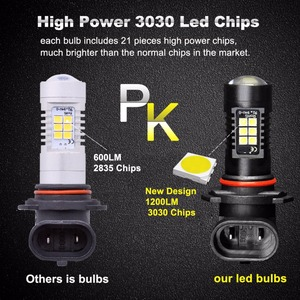 Image 4 - Farol de led automotivo, 2 peças, canbus h8 h11 hb3 9005 hb4 9006, farol de milha, 1200lm, 6000k, sem erro lâmpada led para condução 12v branco