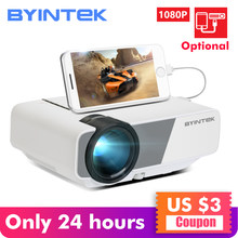 BYINTEK SKY K1/K1plus LED portátil Home Theater HD Mini proyector (pantalla de sincronización con cable opcional para Iphone Ipad tableta del teléfono)(China)