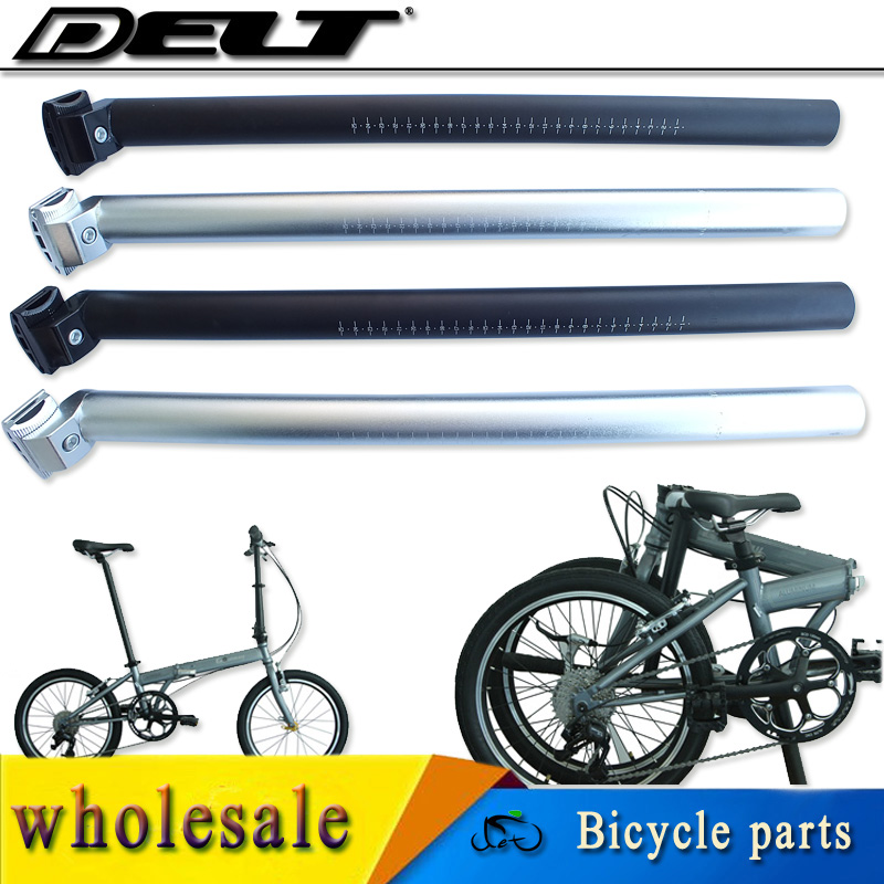 Bicycle Micro Adjust Seat Post Aluminum Alloy 27.2mm 2-Bolt Black or Silver