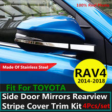 304 de aço inoxidável para toyota rav4 rav 4 2014 2015 2016 2017 2018 porta lateral espelhos retrovisores tarja capa guarnição kit