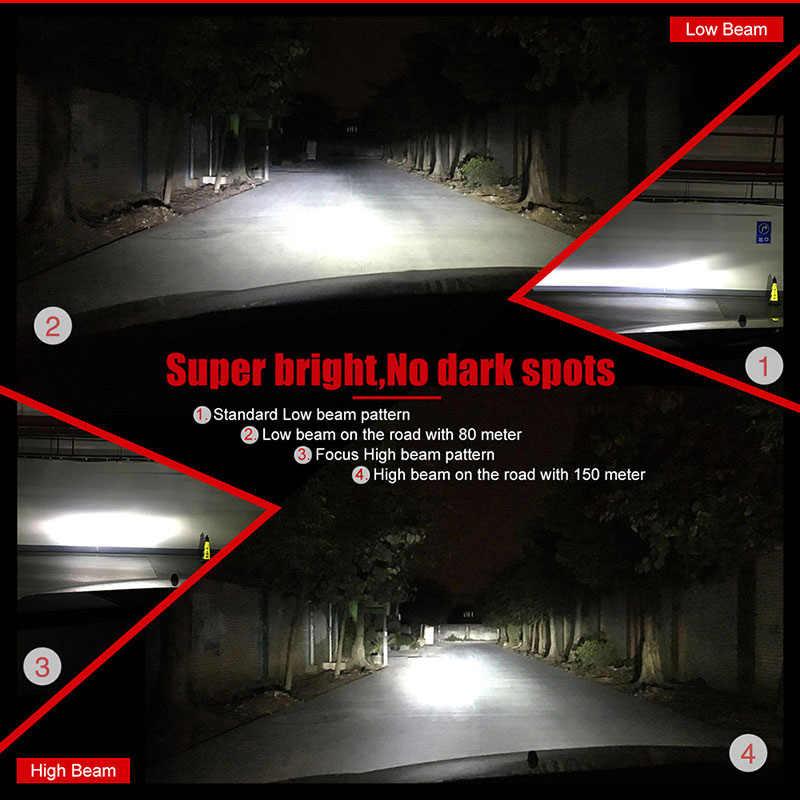 NAO H7 LED Headlight H4 H11 HB4 H1 led bulb Car light 12V H3 Auto Lamp H27 880 9006 9005 HB3 H8 H13 9007 9004 881 72W Automotivo