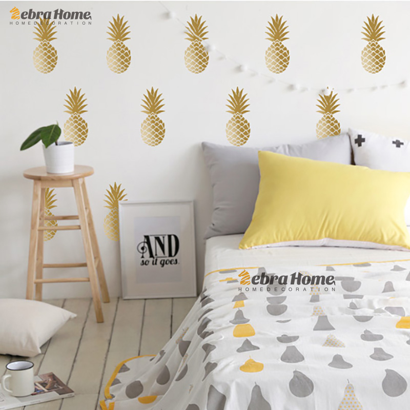 DIY Ananas Pineapple Removable Vinyl Wall Stickers For Living Room Baby Nursery Bedroom Home Decor Mural Wallpaper For Kids Room