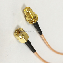 New RG316 Coaxial Cable RP-SMA Male Plug To RP-SMA  Female Jack Pigtail 15CM Wire Connector