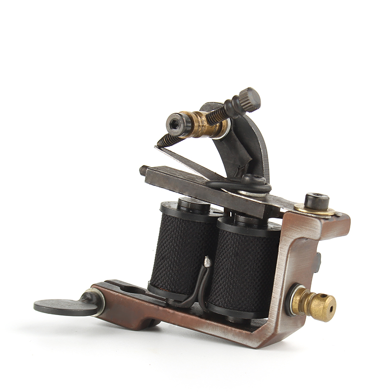 New Arrival Coil Tattoo Machine 10 Wrap Coils Tattoo Gun Black Steel Tattoo Frame For Liner Shader Equipment  Supply