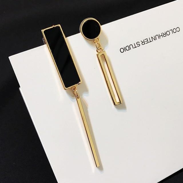 HOMOD Fashion Long Tassel Dangle Drop Earrings For Women Unique Asymmetric Earrings Temperament Wedding Party Jewelry