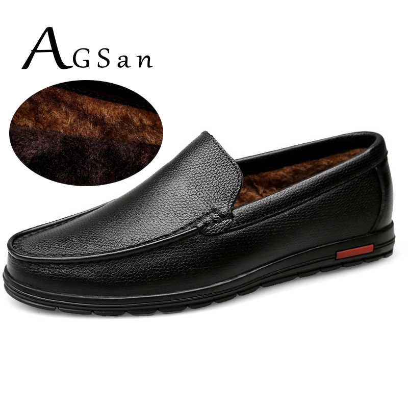 AGSan winter fur men loafers genuine leather plush warm driving shoes loafers mens big size 48 47 46 11.5 11 black moccains flat urbanfind men fashion leather loafers big size 38 48 comfortable soft man slip on driving shoes 5 colors fur no fur 2 styles