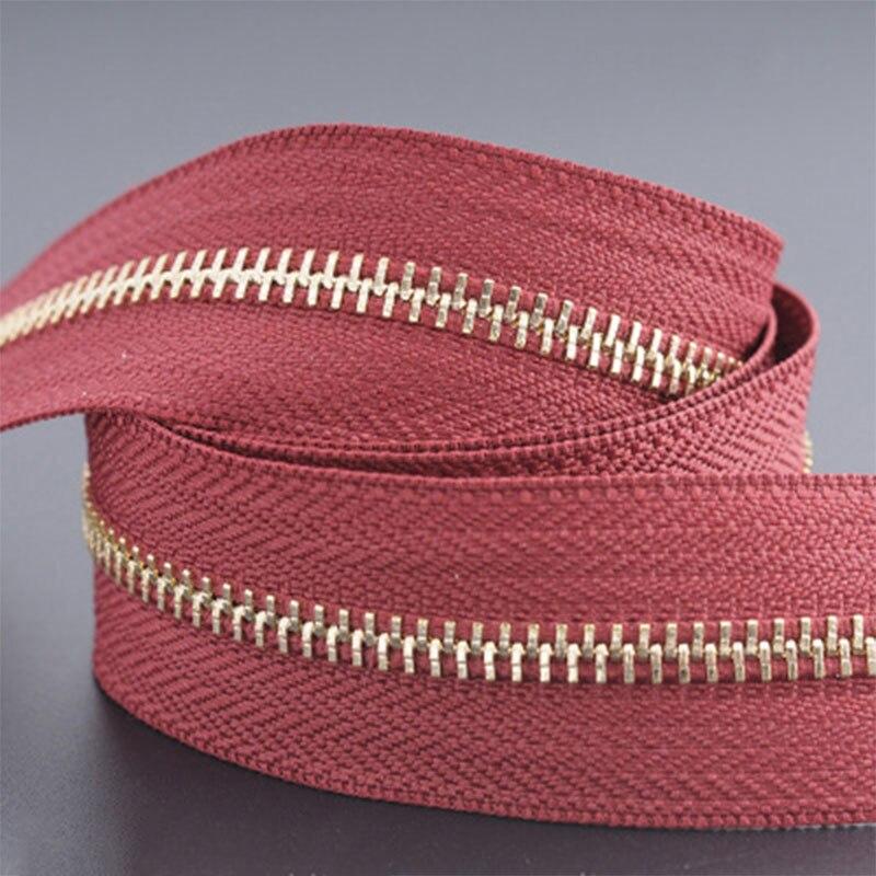 5 м/лот 5# Нейлон молния DIY ручной работы сумки палатка рюкзак домашний текстиль молнии и аксессуары - Цвет: wine red