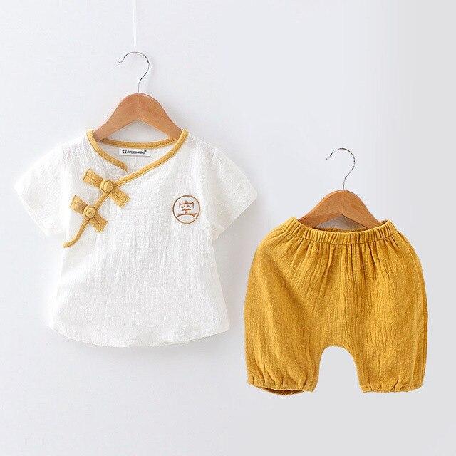 KEAIYOUHUO 2017 Enfants Vêtements Ensembles À Manches Courtes Shirt + Shorts Costume de Sport Pour 1 2 3 Ans D'été Casual Bébé Garçons Vêtements