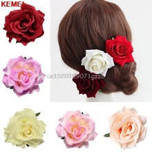 Bridal Rose Flower Hair Clip Hairpin Bros Bridesmaid Wedding Party Accessorie # H027 #(China)