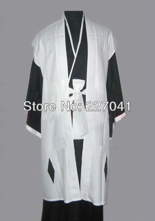 Bleach Kuchiki Byakuya Four Captain suit Cosplay Costume Halloween Clothing