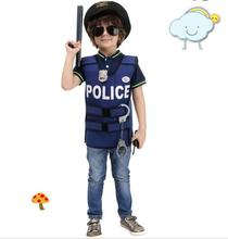 Halloween Costumes for Boys Cosplay Costume police vest boys uniform Children Kids Performance Clothing