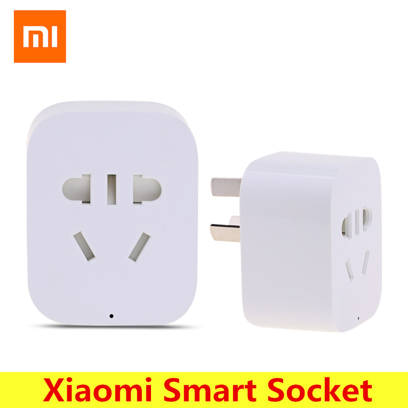 Original Xiaomi Mi Home Smart WiFi Socket APP Remote Control Timer Power Plug for Electrical Appliance xenon wireless wifi socket app remote control smart wifi power plug timer switch wall plug home appliance automation eu style