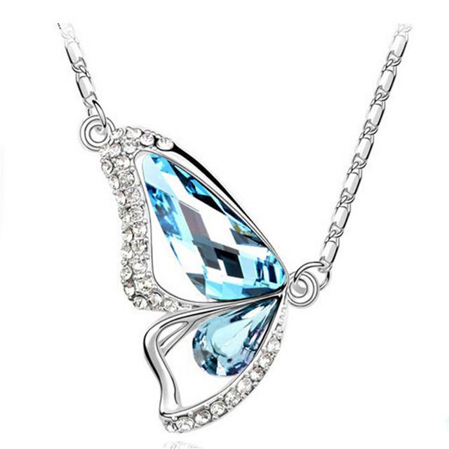 Butterfly Cubic Zircon Crystal Pendant