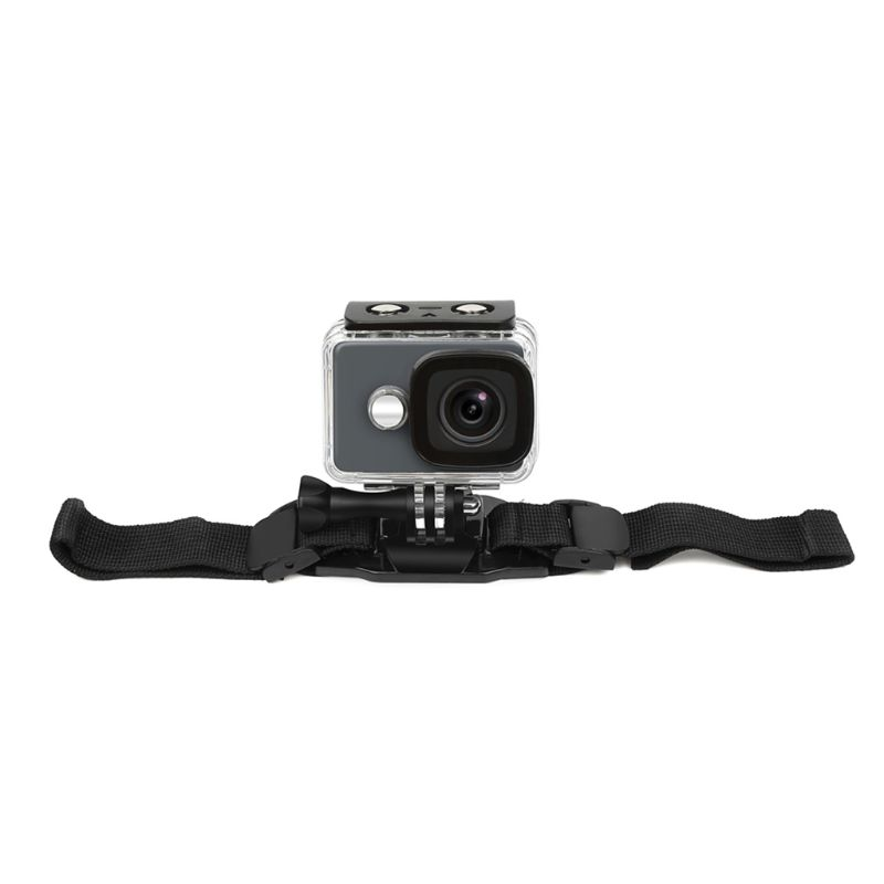 Adjustable Helmet Strap for GoPro Hero <font><b>7</b></font> 5 6 <font><b>4</b></font> Session SJCAM SJ4000 SJ <font><b>5000</b></font> Xiaomi Yi 4K h9 Go Pro Mount Cycling Accessory A69B image