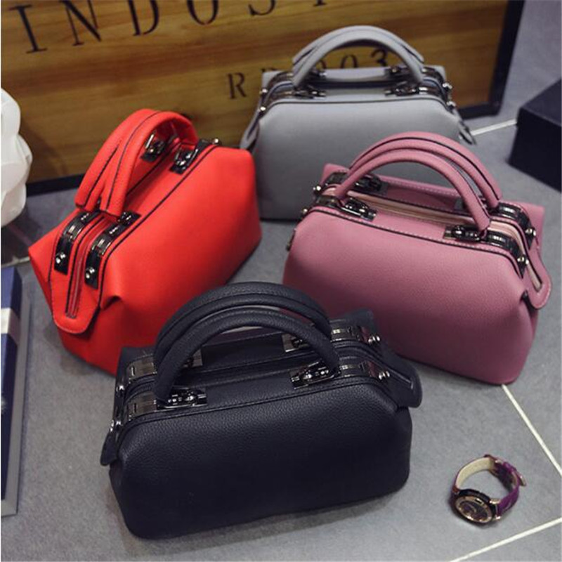 2018 Women Fashion Casual Boston Handbags Women Evening Clutch Messenger Bag Ladies Party Famous Brand Shoulder Crossbody Bags