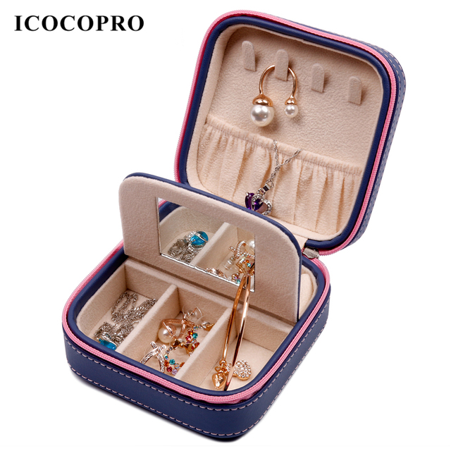 ICOCOPRO Jewelry Box Travel Ring Holder Case Jewelry Storage