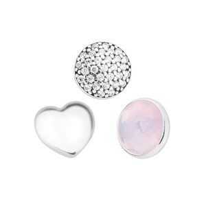 Image 3 - Fits Locket Pendant Necklace Genuine 925 Sterling Silver October Petites Charm Beads for Women DIY Jewelry Party Gift kralen