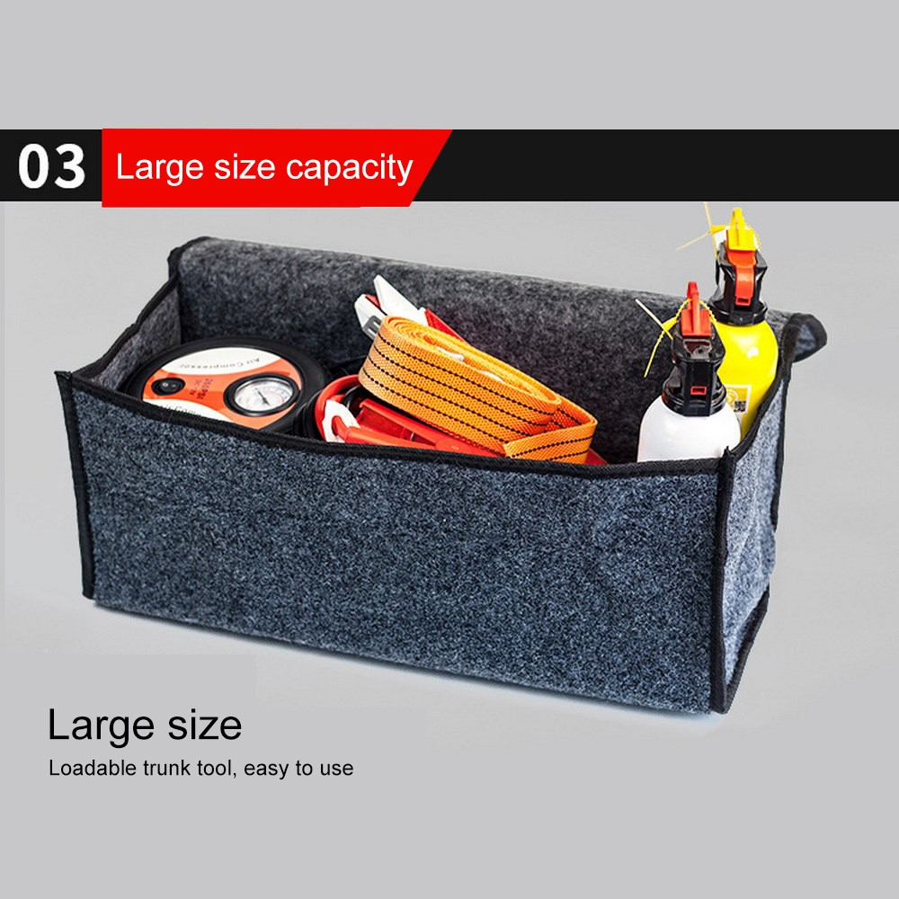 Felt Cloth Folding Storage Bag Adjustable Car Trunk Organizer Multipurpose Storage Collapse Bag Portable Travel Storage Bag in Stowing Tidying from Automobiles Motorcycles