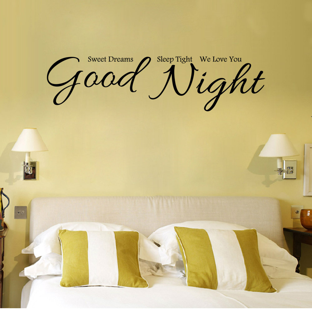 Family Wall Sticker Phrases House Wall Decals Good Night Wall ...