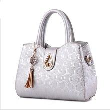 New 2016 women handbags pu leather hand bag plaid women crossbody bag big capacity female shoulder messenger bags causal totes