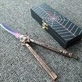 Anime brinquedos aranha titanium borboleta pente faca balisong prática formação legal facas strider instrutor brinquedos para as crianças de esportes