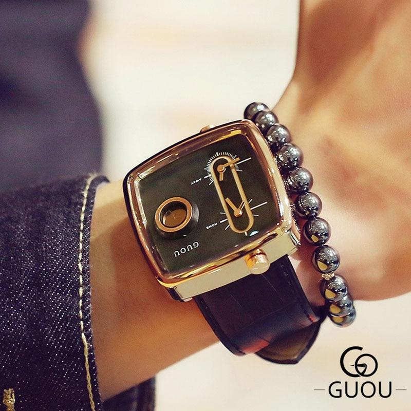 2019 Man Creative Wrist Watch Men Luxury Brand Male Clock Quartz Wristwatch Dual Time Zone Wrist