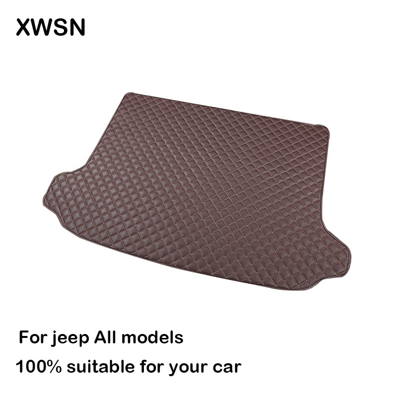 XWSN Car trunk mat for jeep renegade 2018 jeep compass 2018 jeep grand cherokee jeep patriot auto accessories Protect the car куртка jeep